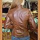 Верхняя одежда ручной работы. Кожаная куртка-косуха со стегаными фрагментами. Валова Наталия. Ярмарка Мастеров. Кожа натуральная