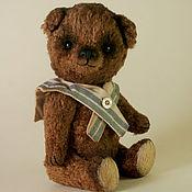 """Куклы и игрушки ручной работы. Ярмарка Мастеров - ручная работа Маленький коричневый медведь тедди """"Морячок Шурик"""". Handmade."""