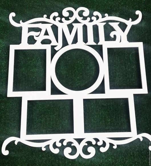 """Фоторамки ручной работы. Ярмарка Мастеров - ручная работа. Купить Семейная фоторамка """"Family"""". Handmade. Комбинированный, рамка для фотографий"""