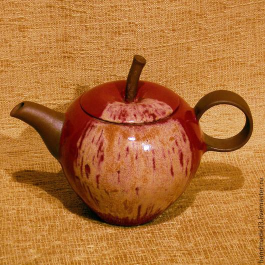 """Чайники, кофейники ручной работы. Ярмарка Мастеров - ручная работа. Купить чайник """"вкус яблока"""". Handmade. Гончарная керамика, глина"""