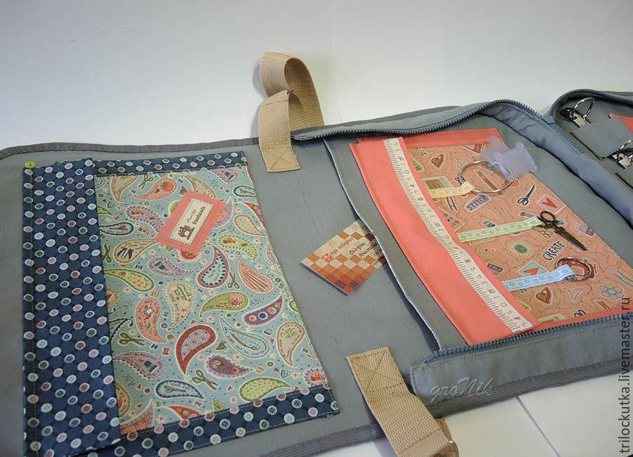 Вышивка на сумку для рукоделия