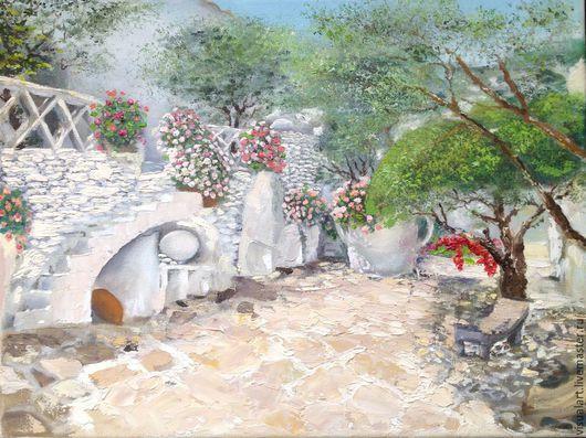 Картина маслом Дворик Дали.