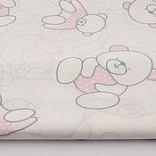 Материалы для творчества ручной работы. Ярмарка Мастеров - ручная работа 100% хлопок, Польша 2, мишки с розовом свитере. Handmade.