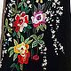 """Платье нарядное с вышивкой """"Розы для любезницы"""". Авторский трикотаж Алена Барабулька"""