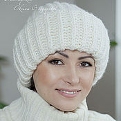 Аксессуары handmade. Livemaster - original item Hat knitted women`s lapel