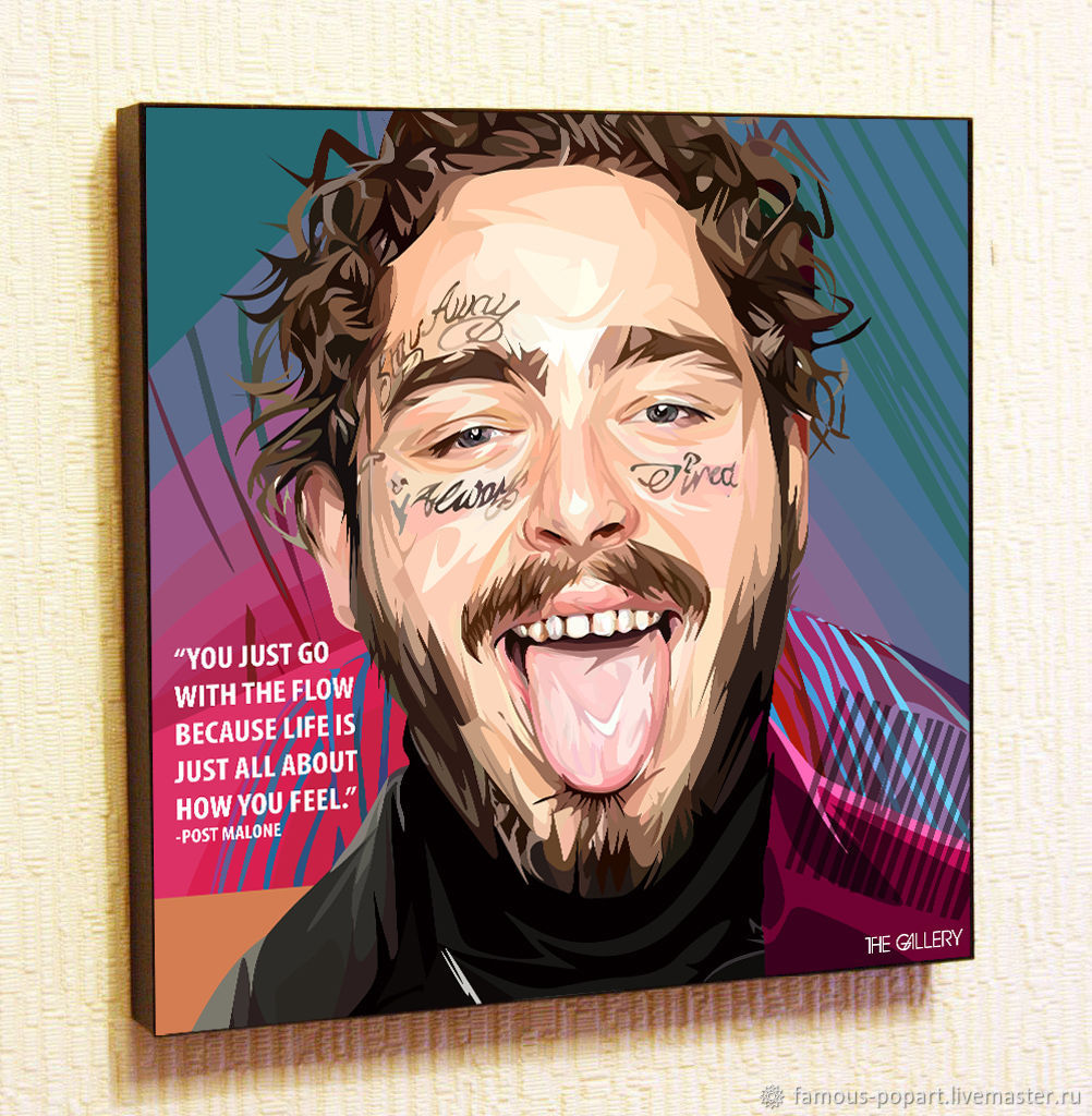 Picture poster Post Malone Post Malone in the style of Pop art, Pictures, Moscow,  Фото №1