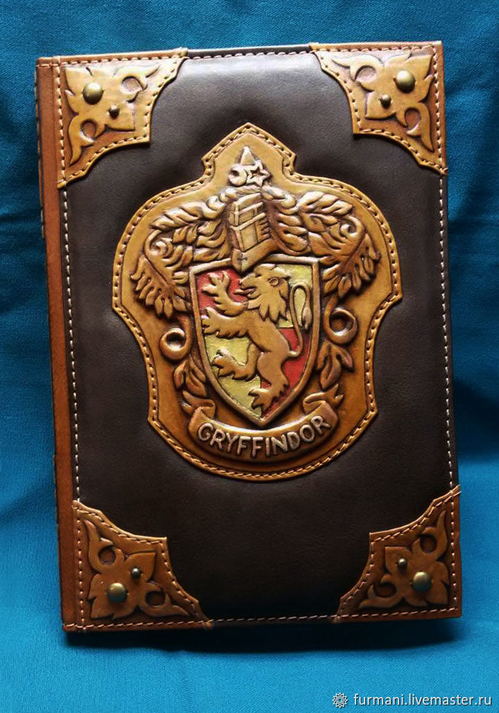"Leather notebook ""GRYFFINDOR"", Notebooks, Krivoy Rog,  Фото №1"