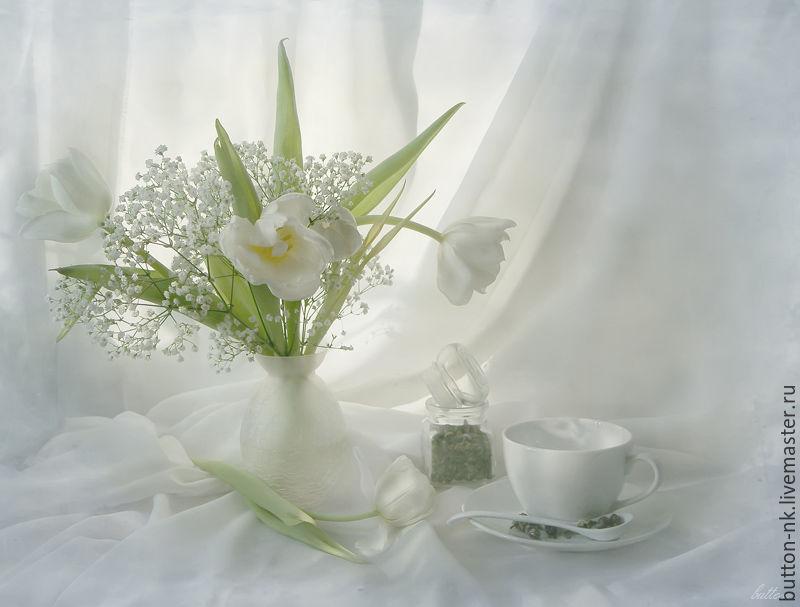 Открытки с нежными цветами с добрым утром