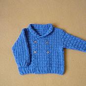 Работы для детей, manualidades. Livemaster - hecho a mano Knitted jacket for a boy. Handmade.