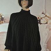 Одежда handmade. Livemaster - original item Knitted poncho, oversize, half-wool.. Handmade.