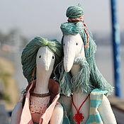 Куклы Тильда ручной работы. Ярмарка Мастеров - ручная работа Хиппи на море (The sea hippies). Handmade.