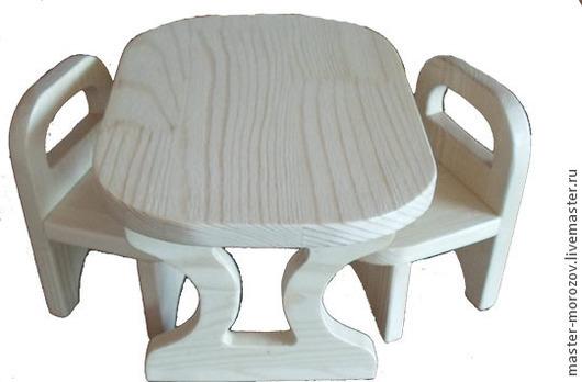 Кукольный дом ручной работы. Ярмарка Мастеров - ручная работа. Купить стол и стулья. Handmade. Мебель для кухни, кукольные стулья