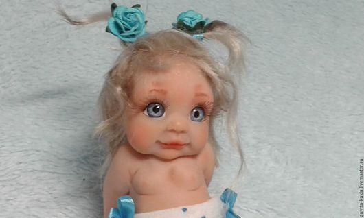 """Коллекционные куклы ручной работы. Ярмарка Мастеров - ручная работа. Купить ...""""А я такая загораю""""....Марина. Handmade. Бежевый, малышка"""
