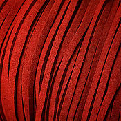 Материалы для творчества ручной работы. Ярмарка Мастеров - ручная работа Шнур 3 мм, (арт.з1) искусственная замша, цвет красный. Handmade.