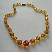Винтаж handmade. Livemaster - original item Vintage necklace orange beads Czech glass. Handmade.