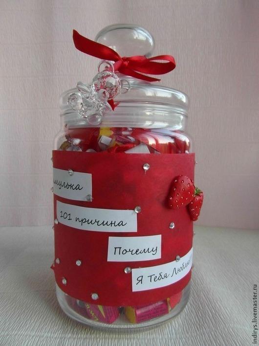 Подарки для влюбленных ручной работы. Ярмарка Мастеров - ручная работа. Купить 100 причин (101 причина)  почему я тебя люблю подарок парню девушке. Handmade.