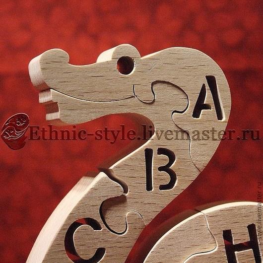 Развивающие игрушки ручной работы. Ярмарка Мастеров - ручная работа. Купить Змейка (фигурка-пазл с английским алфавитом). Handmade. Пазл