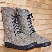 Обувь ручной работы. Ярмарка Мастеров - ручная работа Ботинки валяные из неокрашенной натуральной шерсти. Handmade.