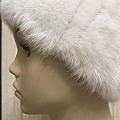 Аксессуары handmade. Livemaster - original item Headband from knitted mink WHITE. Handmade.