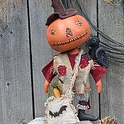 Куклы и игрушки ручной работы. Ярмарка Мастеров - ручная работа Тыква. Handmade.