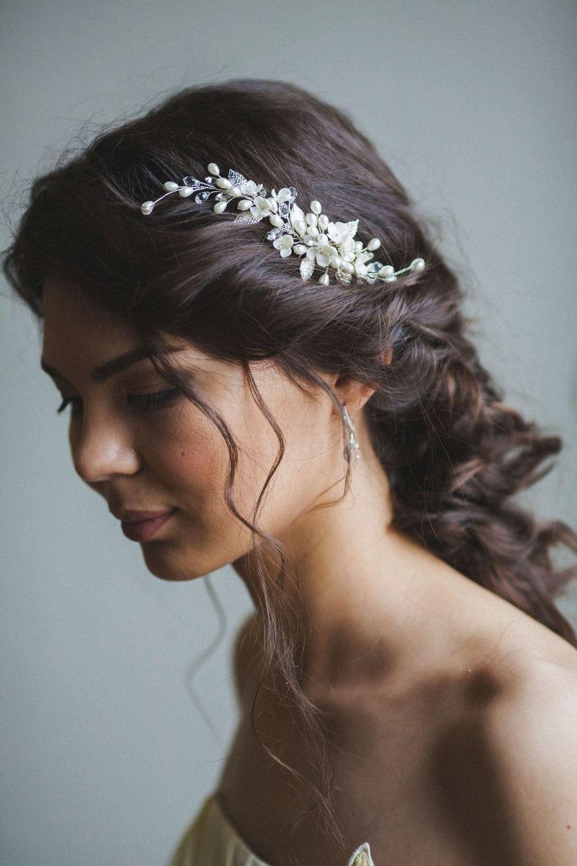 Свадебное украшение с цветами и листьями, Украшения в прическу, Тамбов,  Фото №1