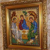 Иконы ручной работы. Ярмарка Мастеров - ручная работа Икона Святой Троицы. Handmade.