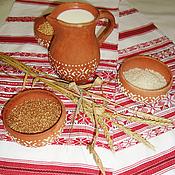 Русский стиль handmade. Livemaster - original item Woven rushnik handmade