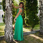 Одежда ручной работы. Ярмарка Мастеров - ручная работа платье трансформер с разрезом (зеленое). Handmade.