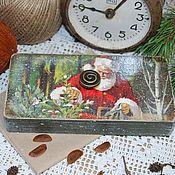 """Для дома и интерьера ручной работы. Ярмарка Мастеров - ручная работа Шкатулка-купюрница """"Дед Мороз"""". Handmade."""