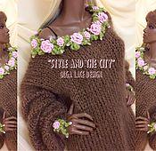 """Одежда ручной работы. Ярмарка Мастеров - ручная работа Свитер оверсайз из коллекции """"Style and the City"""" от Olga Lace. Handmade."""