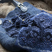"Сумка через плечо ручной работы. Ярмарка Мастеров - ручная работа Валяная сумочка  ""Luxury"". Handmade."
