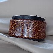 Украшения ручной работы. Ярмарка Мастеров - ручная работа Браслет «Золото скифов» кожаный комбинированный. Handmade.