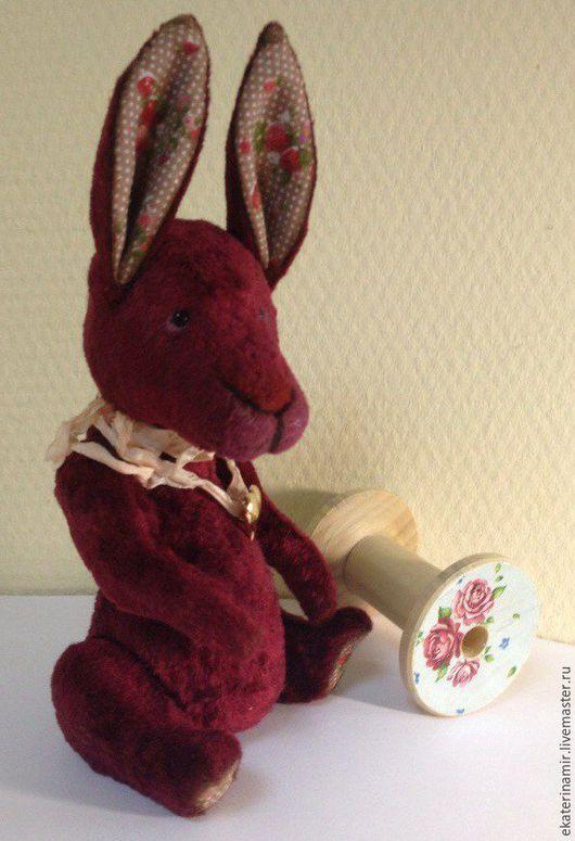Мишки Тедди ручной работы. Ярмарка Мастеров - ручная работа. Купить Вишенка. Handmade. Бордовый, игрушка, шплинтовое соединение