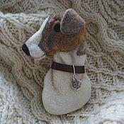 Украшения handmade. Livemaster - original item Felted portrait Hound brooch. Handmade.