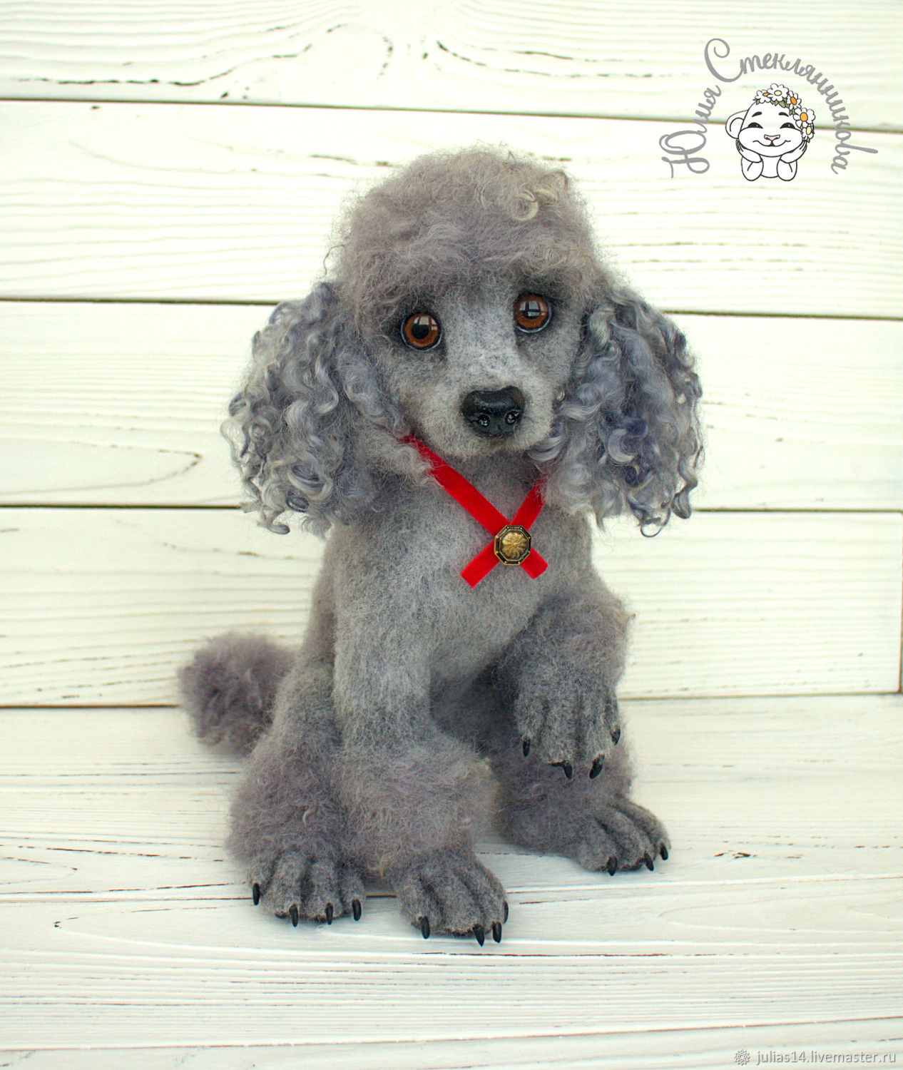 Needle felted toy Poodle, Felted Toy, St. Petersburg,  Фото №1