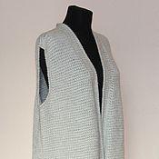 """Одежда ручной работы. Ярмарка Мастеров - ручная работа Жилет кашемировый """"Для нее или для него"""", большой размер. Handmade."""