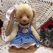 Куклы и игрушки ручной работы. Ярмарка Мастеров - ручная работа Зайка-тэдди Лиза. Handmade.