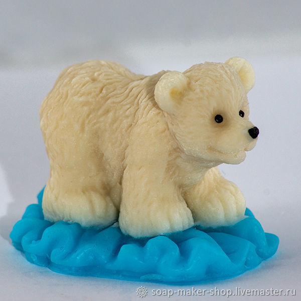 Silicone soap mold ' white bear 2 3D», Form, Shahty,  Фото №1