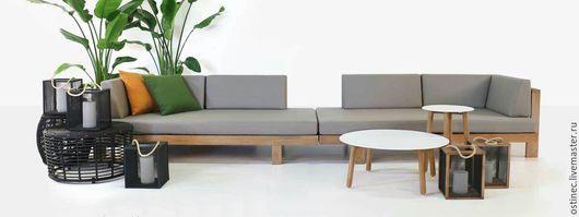 Экстерьер и дача ручной работы. Ярмарка Мастеров - ручная работа. Купить Комплект мебель из массива для дома и улицы #4. Handmade.