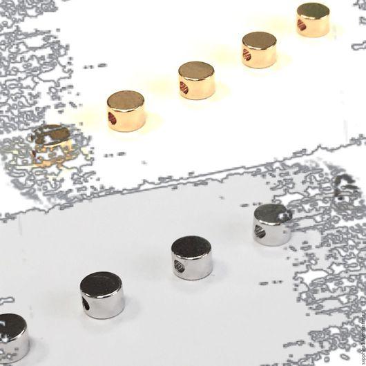Для украшений ручной работы. Ярмарка Мастеров - ручная работа. Купить Бусина шайба 4:2,6 мм два покрытия. Handmade.