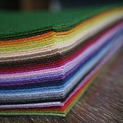 Фетр ручной работы. Ярмарка Мастеров - ручная работа Набор фетра 28х30см 42 цвета. Handmade.