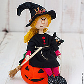"""Куклы и игрушки ручной работы. Ярмарка Мастеров - ручная работа Маленькая ведьмочка """"Хэллоуин"""". Handmade."""