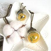 Украшения handmade. Livemaster - original item Glass Eco Pendant Sphere Sands Of Time Seashore Seaweed. Handmade.