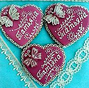 Сувениры и подарки handmade. Livemaster - original item Gingerbread Heart with butterfly. Personalized gingerbread. Handmade.