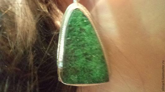 серьги `Зеленая поляна`цена 2700 уваровит