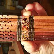 Заколки ручной работы. Ярмарка Мастеров - ручная работа Палочки-выручалочки две палочки для волос из дерева инкрустация. Handmade.