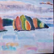 Картины и панно ручной работы. Ярмарка Мастеров - ручная работа картина акварель Озеро Светлое. 2010. Handmade.