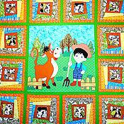Для дома и интерьера ручной работы. Ярмарка Мастеров - ручная работа детское покрывало пэчворк  МАЛЕНЬКИЙ ДАЧНИК покрывало пэчворк детское. Handmade.