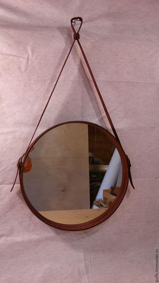 """Зеркала ручной работы. Ярмарка Мастеров - ручная работа. Купить Зеркало для капитанов  """"Captains mirror"""" , натуральная кожа. Handmade. Бордовый"""