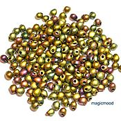 Материалы для творчества handmade. Livemaster - original item 10gr seed Beads, 3.4 mm Drops 2035 khaki Japanese seed beads Miyuki glad Mat metal. Handmade.